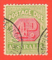 AUS SC #J43 U  1909 4p Postage Due, CV $11.50 - Postage Due