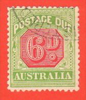AUS SC #J44 U  1909 6p Postage Due, CV $14.00 - Postage Due