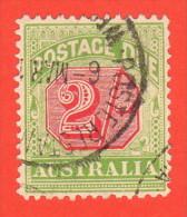 AUS SC #J46 U  1909 2sh Postage Due, CV $16.00 - Postage Due