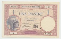 FRENCH INDO-CHINA 1 PIASTRE 1927 - 1931 AUNC PICK 48b  48 B - Indochine