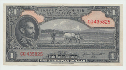 Ethiopia 1 Dollar 1945 XF Pick 12b 12 B (Bennett) - Ethiopie