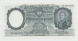 Argentina 500 Pesos 1954 - 1964 UNC NEUF Pick 274b (Black Serial Number) - Argentine