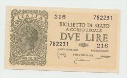 Italy 2 Lire 1944 UNC NEUF Pick 30b  30 B - Italia – 2 Lire