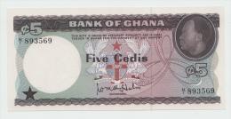 Ghana 5 Cedis 1965 UNC NEUF Pick 6a  6 A - Ghana