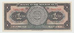 Mexico 1 Peso 1950 AUNC+ Pick 46b  46 B  SERIE CP - Mexico