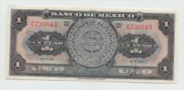 Mexico 1 Peso 12-V- 1948 UNC NEUF Pick 38d  38 D  Series AD - Mexico