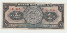 Mexico 1 Peso 1950 VF+ Pick 46b  46 B  SERIE CH - México