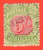 """AUS SC #J47 U  1909 5sh Postage Due W/nibbed Perf @ TL, """"3 APR 13"""", CV $17.00 - Postage Due"""