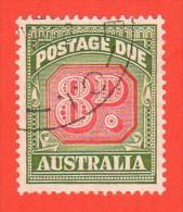 AUS SC #J79 U  1957 8p Postage Due - Postage Due