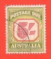 AUS SC #J83 U 1953 5sh Postage Due, CV $8.50 - Postage Due