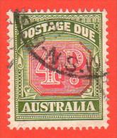 AUS SC #J89 U  1958 4p Postage Due Typ I, CV $10.00 - Postage Due