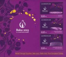 az1071 Azerbaijan 2014 First European Games 2 s/s Michel: 1071a-6a