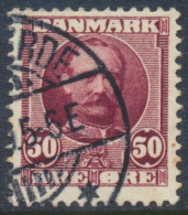 Denmark Danemark Danmark 1907: 50ø Red Lilac Frederik VIII, Fine Used (DCDK00164) - 1905-12 (Frederik VIII)