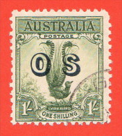 AUS SC #O14 U  1932 Lyrebird W/overprint, CV $52.50 - Officials
