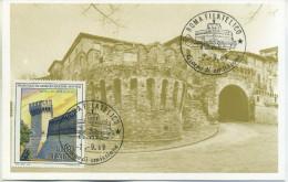ITALIA - FDC MAXIMUM CARD 1989 - FRANCESCO DI GIORGIO MARTINI - ARTE - Cartas Máxima