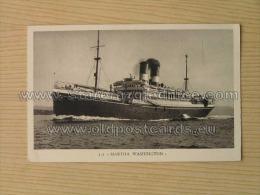 Brod 75 Ship Vapore Dampfer S S Martha Washington Cosulich Line Trieste Ed A Rizzoli Milano - Paquebots