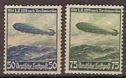 Alemania Imperio Aereo 55/56 (*) Zeppelin. 1936. Sin Goma - Luftpost