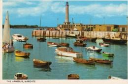 Postcard - Margate Harbour Arm Lighthouse, Kent. PT4356 - Lighthouses