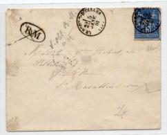 1881 - ENVELOPPE De LE BOURG D'OISANS (ISERE) Avec CACHET De BOITE MOBILE RAYE - Postmark Collection (Covers)