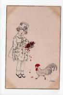E. Weber: N° A 1002/1 - Fillette Et Poule - Mädchen (17) - Illustrators & Photographers