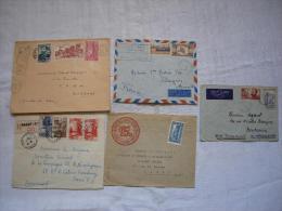 Lot De 5 Lettres Colonies Françaises Dont 1 Réunion - Sin Clasificación