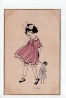 E. Weber: N° A 1002/2 - Fillette Et Poupée - Mädchen (17) - Illustrators & Photographers