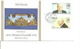 Churchill ( FDC Des Seychelles De 1974 à Voir) - Sir Winston Churchill
