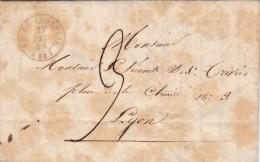 LAC.  1843 84. LOIRE. BOUG ARGENTAL TAXE PLUME 3 / 5771 - Poststempel (Briefe)