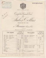 21 BEAUNE FACTURE 1918 TARIF Des GRANDS VINS De JULES COLLAS  - C44 - France