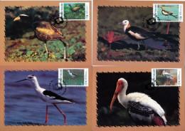 THAILAND - 1997 - Mi 1770-1773 - BIRDS - MAXI CARDS - Thailand