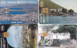 GREECE 1997-1999 4 Telephonecards With Different Views. - Griekenland