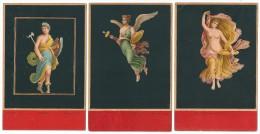 Cpa: BACCHANTE DE POMPEI  3 Cartes - Danseuses - La Victoria - Minerva (Femme Nue) Precurseur - Illustratori & Fotografie
