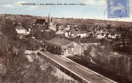 CPA  -   VERMENTON  (89)   Vue Générale, Prise Des Usines à Chaux   -   Garage - Station  Shell .(Pompes à Essence) - Vermenton