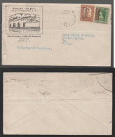 Mexiko Mexico 1916 Advertising Cover EL FARO With Overprint Stamps - Mexique