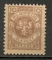 Timbres - Lituanie - KLAIDEPA - Memel - Occupation Lituanienne - 1923 - 10 M. -