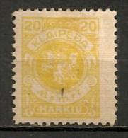 Timbres - Lituanie - KLAIDEPA - Memel - Occupation Lituanienne - 1923 - 20 M. - - Lituanie
