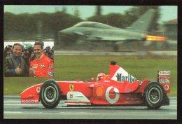 [DC0624] CARTOLINEA - SFIDA CHELI - SCHUMACHER - JET EURO FIGHTER CONTRO FERRARI - Grand Prix / F1