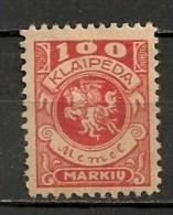 Timbres - Lituanie - KLAIDEPA - Memel - Occupation Lituanienne - 1923 - 100 M. - - Lituanie