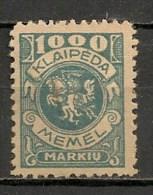 Timbres - Lituanie - KLAIDEPA - Memel - Occupation Lituanienne - 1923 - 1000 M. - - Lituanie