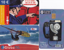 SPAIN 3 Different Telephonecards - Spanje