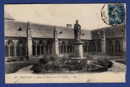22 TREGUIER Statue De Saint-Yves Et Cloître - Ambulant - Tréguier