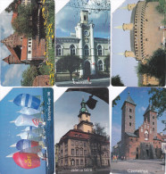 POLAND 6 Different Telephonecards Vieuws, Buildings Etc 25 - 50 Zt. - Polen