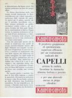 1967  -  Lozione  Per Capelli KAMINOMOTO  -  1 Pagina Pubblicità Cm. 13 X 18 - Magazines