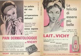 1963  - PAIN DERMATOLOGIQUE / LAIT De VICHY  -  2  P.  Pubblicità Cm. 13,5 X 18,5 - Altri