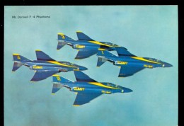 MILITARY AVIATION * USA US NAVY BLUE ANGELS * McDONNELL F-4 PHANTOM * MINT CARD - 1946-....: Modern Tijdperk