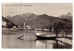 1900 PANORAMA DELL'ISOLA BELLA - LAGO MAGGIORE - FORMATO PICCOLO - BARCA - C338 - Verbania
