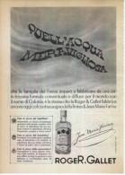 1963  - Acqua Di Colonia Jean Marie Farina (ROGER E GALLET)  -  1  P.  Pubblicità Cm. 13,5 X 18,5 - Magazines
