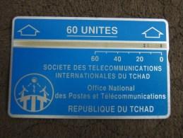 L&Gyr Phonecard,third Definitive Issue,CHD-8b  CN: 305D Blue,used - Chad