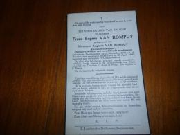 Souvenir Deces Frans VAN ROMPUY Begijnendijk 1890 1940 - Monnaie De Paris