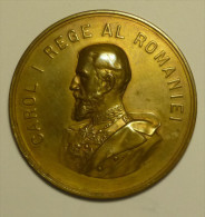 "Roumanie Romania Rumänien Médaille """" Carol I Rege Al Romaniei """" 1904 - Otros Países"